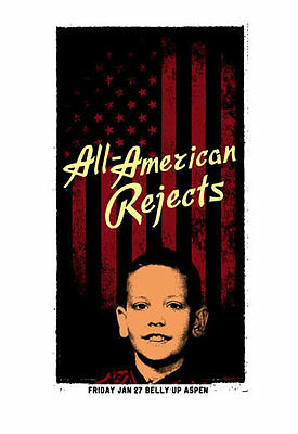Scrojo All-American Rejects Belly Up Aspen Colorado 2012 Poster Rejects2_1201