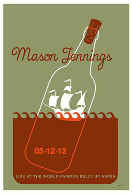 Scrojo Mason Jennings Belly Up Aspen Colorado 2012 Poster Jennings2_1205