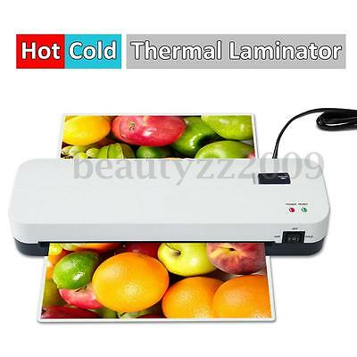 A4 Hot/Cold Laminating Machine Laminator Roller Thermal Pouch For Home Office