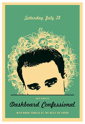Scrojo Dashboard Confessional Brent Cowles Belly Up Aspen Poster Dashboard_1207
