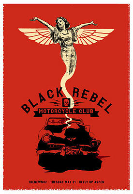 Scrojo Black Rebel Motorcycle Club 2013 Poster Belly Up Aspen CO BlackRebel_1305