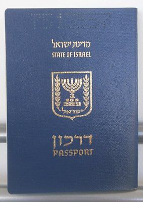 ISRAEL COLLECTIBLE EXPIRED CANCELLED  SOFT COVER PASSPORT Brazil 2 revenue 1998