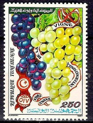 Tunisia 1987 International Wine year Grapes Fruits Vineyard Agriculture 1v MNH