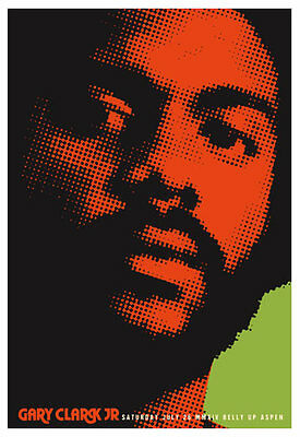 Scrojo Gary Clark Jr. Belly Up Aspen Colorado 2014 Poster Clark_1407