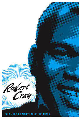 Robert Cray at The Belly Up Aspen Poster by Scrojo Cray2_1607