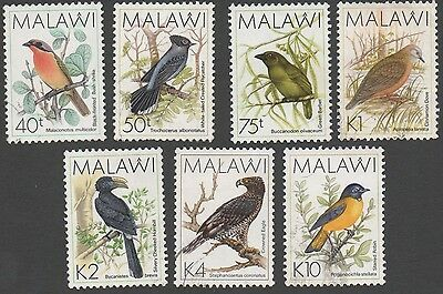 Malawi stamps. 1988 Birds. Incl. high values. MLH