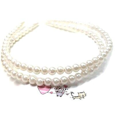 Women Girl Hot New Pearl Beads Hair Hoop Headband Hair Accessories Wedding Party