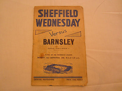 1946-47 DIV 2  SHEFFIELD WEDNESDAY v BARNSLEY