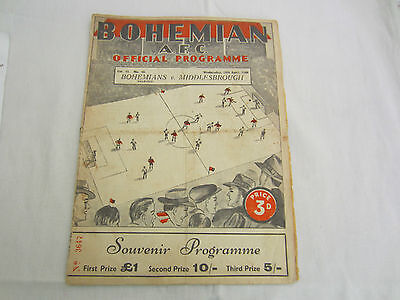 1947-48 FRIENDLY BOHEMIANS SELECTED v MIDDLESBROUGH