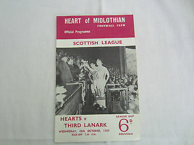 1959-60 SCOTTISH LEAGUE HEART OF MIDLOTHIAN v THIRD LANARK