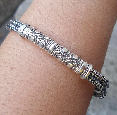 925 Sterling Silver-Balinese Handcrafted Bracelet (Tulang Naga) Style-01