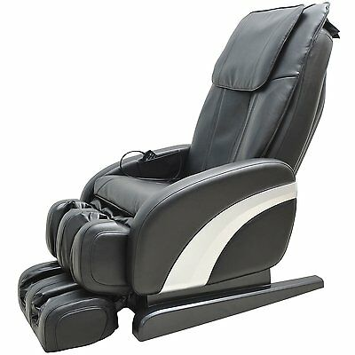 Homcom Luxury Reclining Leather Massage Chair Heat Armchair Multifunctional
