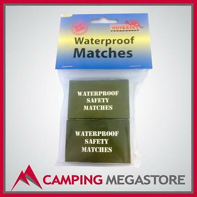 Camping/outdoor/hiking Waterproof Survival Safety Matches Pack Of 2