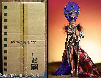 Tribal Beauty Barbie Collector Doll in Mattel SHIPPER Gold Label 2013 Linda Kyaw