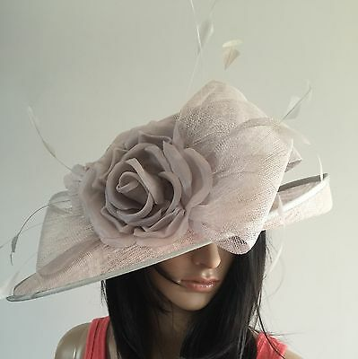 NIGEL RAYMENT SILVER GREY WEDDING Hat FORMAL Occasion MOTHER OF THE BRIDE