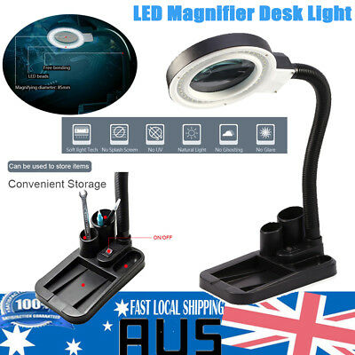 40 LED 5X Magnifier Desk Light Precision Read Nail Art Tattoo Magnifying Lamp AU