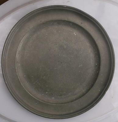 Old French Pewter Plate #CH5