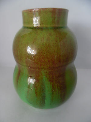 REMUED DOUBLE GOURD VASE WITH COLLAR. [ early series shape 141 ]