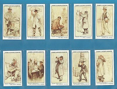 Lambert & Butler cigarette cards - LONDON CHARACTERS - Full set.