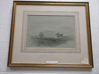 FRAMED WATERCOLOUR PAINTING by F.G.HEAD 1845 A STUDY OF TORRINGTON