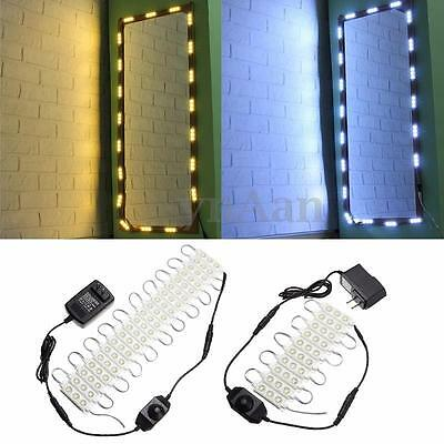 Mirror LED Light For Cosmetic Makeup Vanity Mirror Lighted White+Dimmer+Power