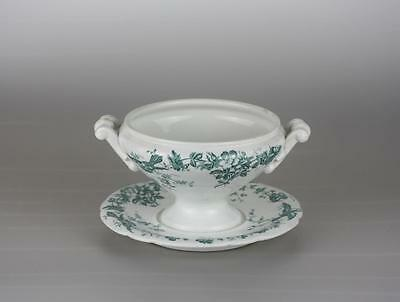 Antique Imperial Russian Porcelain Floral Gravy Bowl  by Gardner factory
