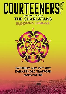 THE COURTEENERS Emirates Old Trafford 27th May 2017 PHOTO Print POSTER Tour 011