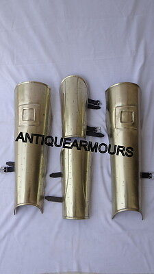 300 Greek Brass Antique Finish Arm & Leg Guard~Armoury Fantasy Nautical Gifts