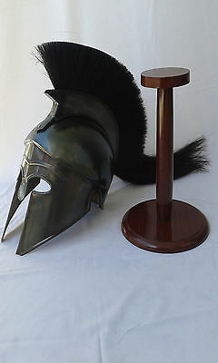 GREEK CORINTHIAN HELMET REPLICA BLACK FINISH  Achilles Armor helmet gifts