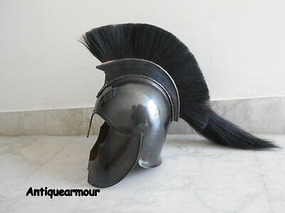 Greek Troy ~SPARTAN_BLACK FINISH/PLUME~ANTIQUE REPRODUCTION GIFTABLES