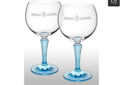 Two Gift Boxed Bombay Sapphire Glasses
