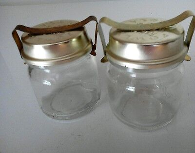 FOWLERS VACOLA JARS 2 x No. 3 with s/hand standard lids & clips