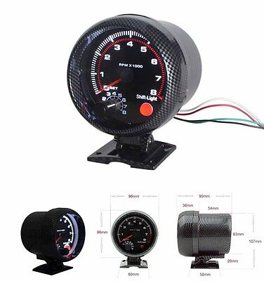 "Street - Race Car -  Rev Tachometer- 3.75"" Built in Shift Light - Monster Tacho"