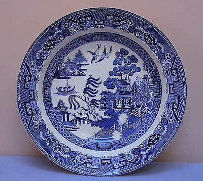Stafford Pottery Stockton on Tees Victorian Willow pattern dish 1848 Wedgewood