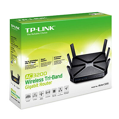Tp-Link Archer C3200 Wireless Tri-Band Gigabit Gaming Router & 6 Antennas Ac3200