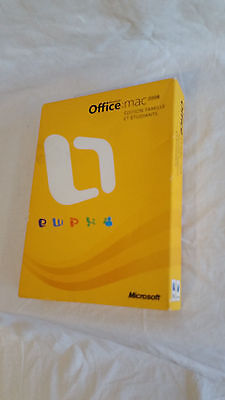 Microsoft office home and student : mac 2008 dvd suite complète avec 3 cles