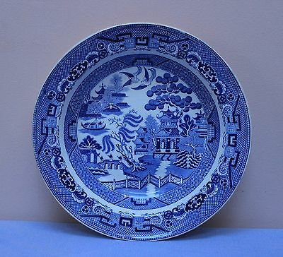Middlesbrough Pottery c1850 Blue & White Willow pattern dish