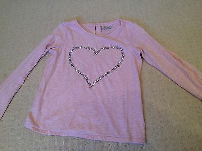 Next pink girls long sleeved t-shirt with glittery heart age 10