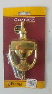 Solid brass door knocker##look##