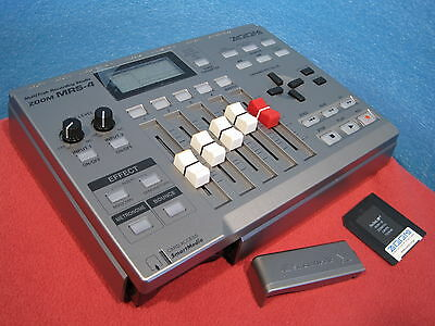 Free Shipping ZOOM MRS-4 Multi Track Recording Studio 4 Track w/ 32MB Card Used
