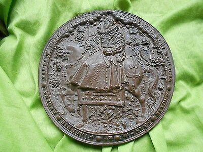 a replica of the great seal of Elizabeth the first