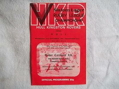 Hull KR v Hull FC 22.9.82 Rugby League programme