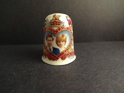 Prince Charles & Lady Diana Spencer Thimble-HEXAGON STUDIOS Made in England 1981