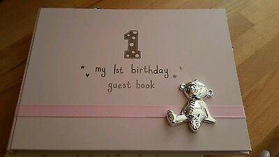 Baby's 1st birthday guest book - Pink