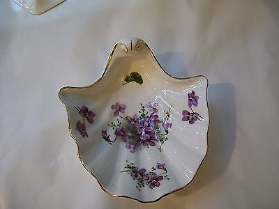 Hammersley Victorian Violets Shell Dish
