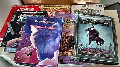TSR Advanced Dungeons and Dragons D & D game sets