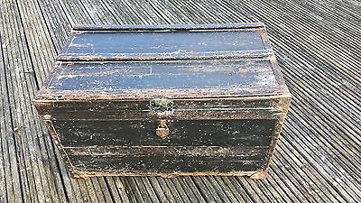 Vintage Wooden Travelling Trunk / Chest