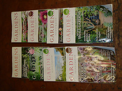 Gardens Illustrated magazines x 8 all 2016