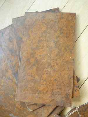 ONE ONE of these 1700s leather book boards amazing patina and colour be creative