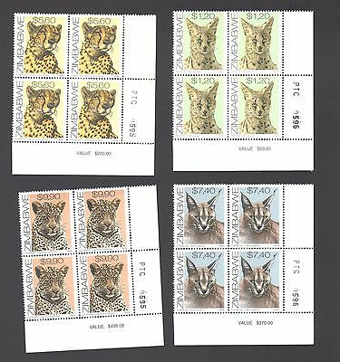 ZIMBABWE 1999 CATS Number  Blocks  MNH